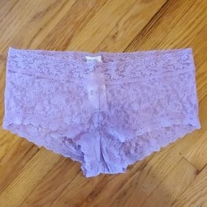 Hanky Panky Plus 2X purple lace boyshorts